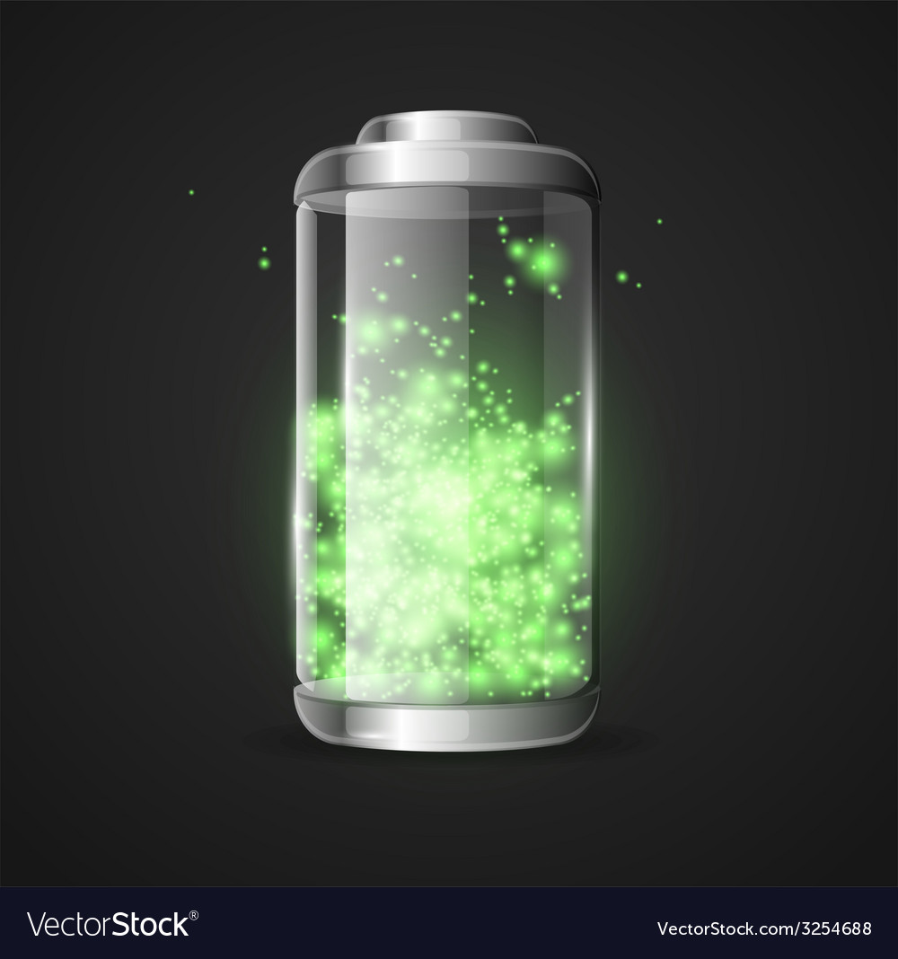 Detailed glossy battery vector | Price: 1 Credit (USD $1)