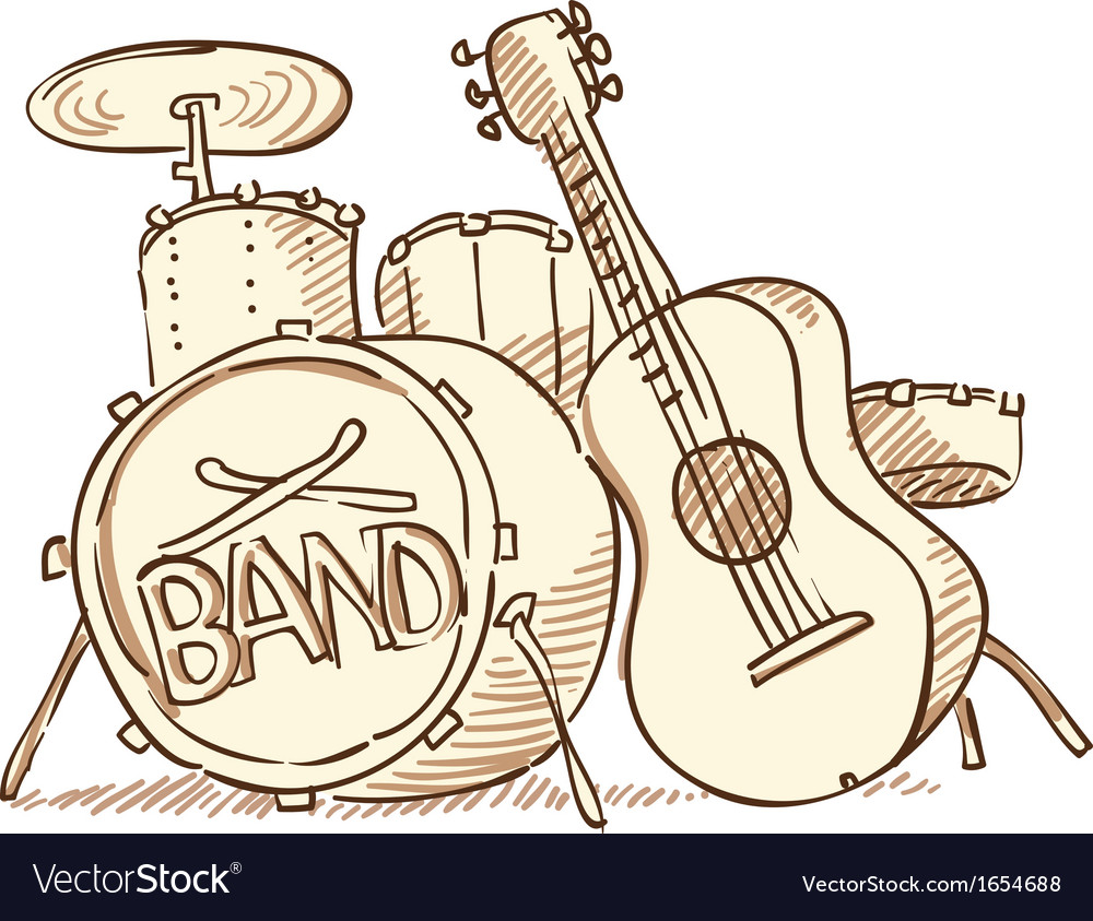 Drums and guitar vector   Price: 1 Credit (USD $1)