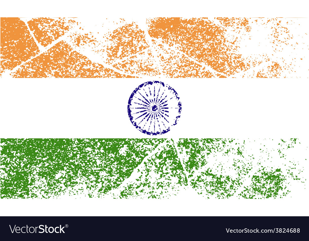 Flag of india with old texture vector   Price: 1 Credit (USD $1)