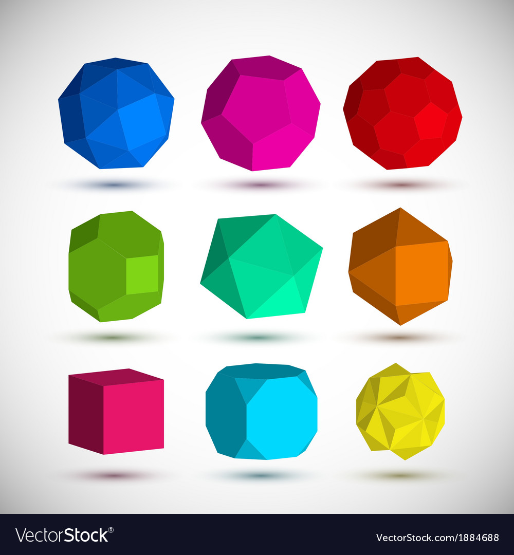 Geometric elements set vector | Price: 1 Credit (USD $1)