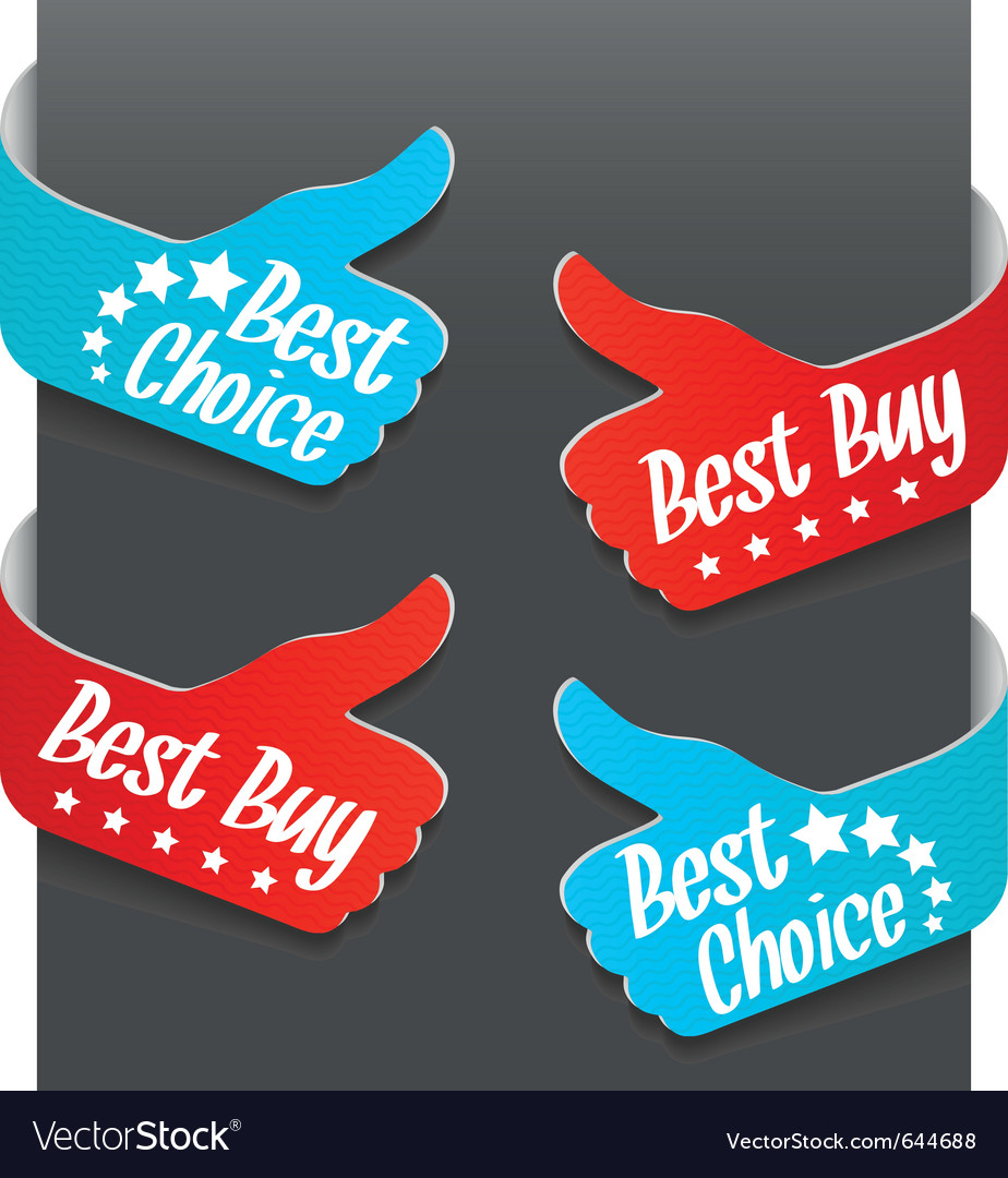 Left and right side signs - best buy vector | Price: 1 Credit (USD $1)