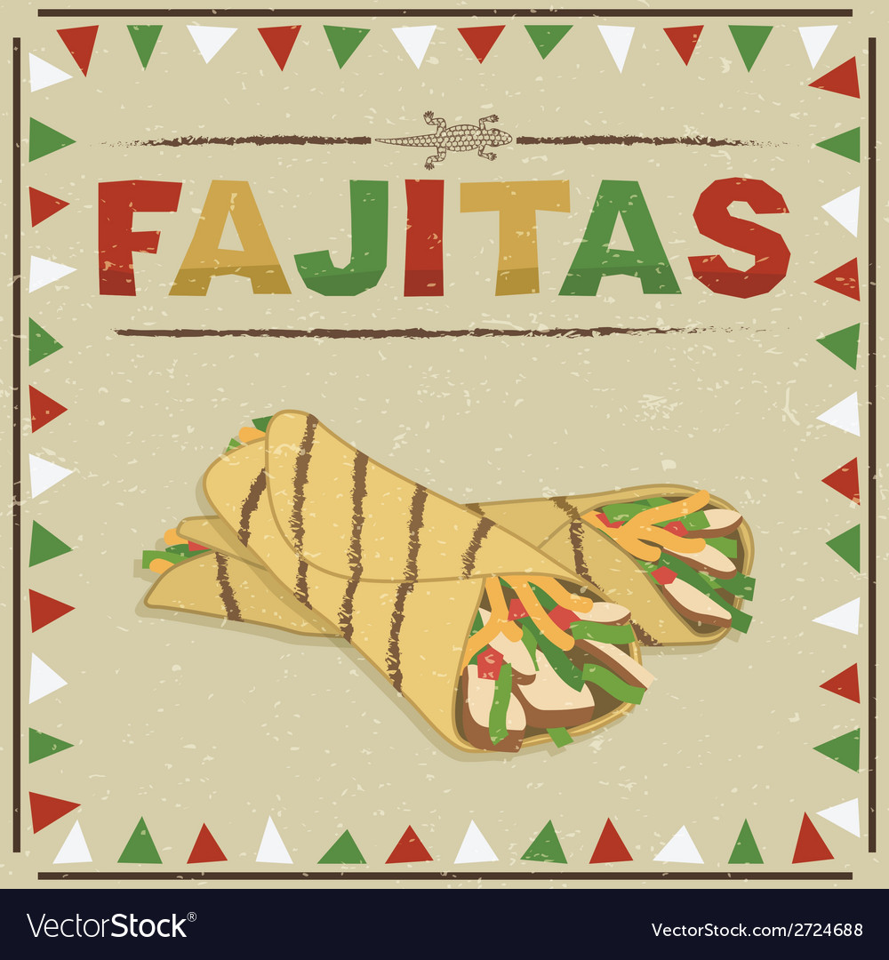 Mexican fajitas vector | Price: 1 Credit (USD $1)