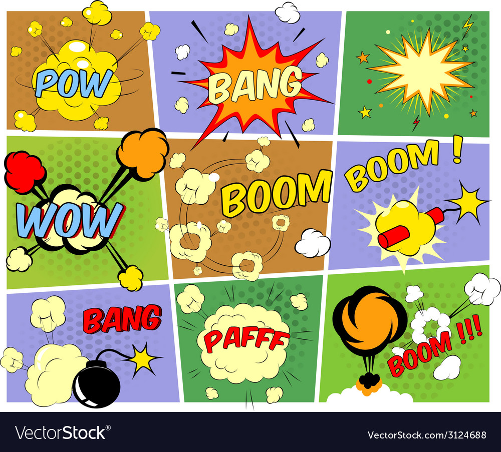 Mockups of comic book speech bubbles vector | Price: 1 Credit (USD $1)