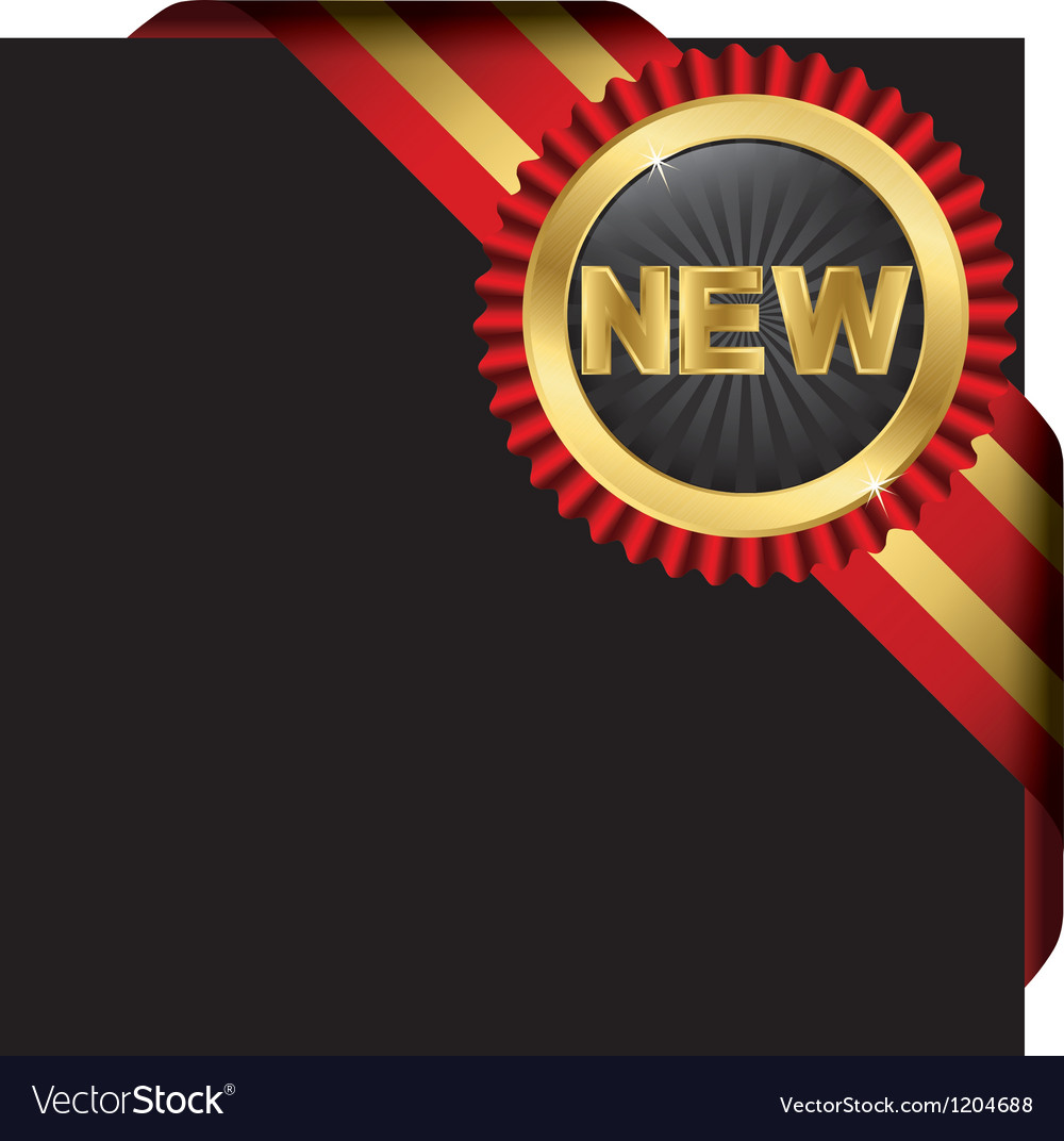 New ribbon page label vector | Price: 1 Credit (USD $1)