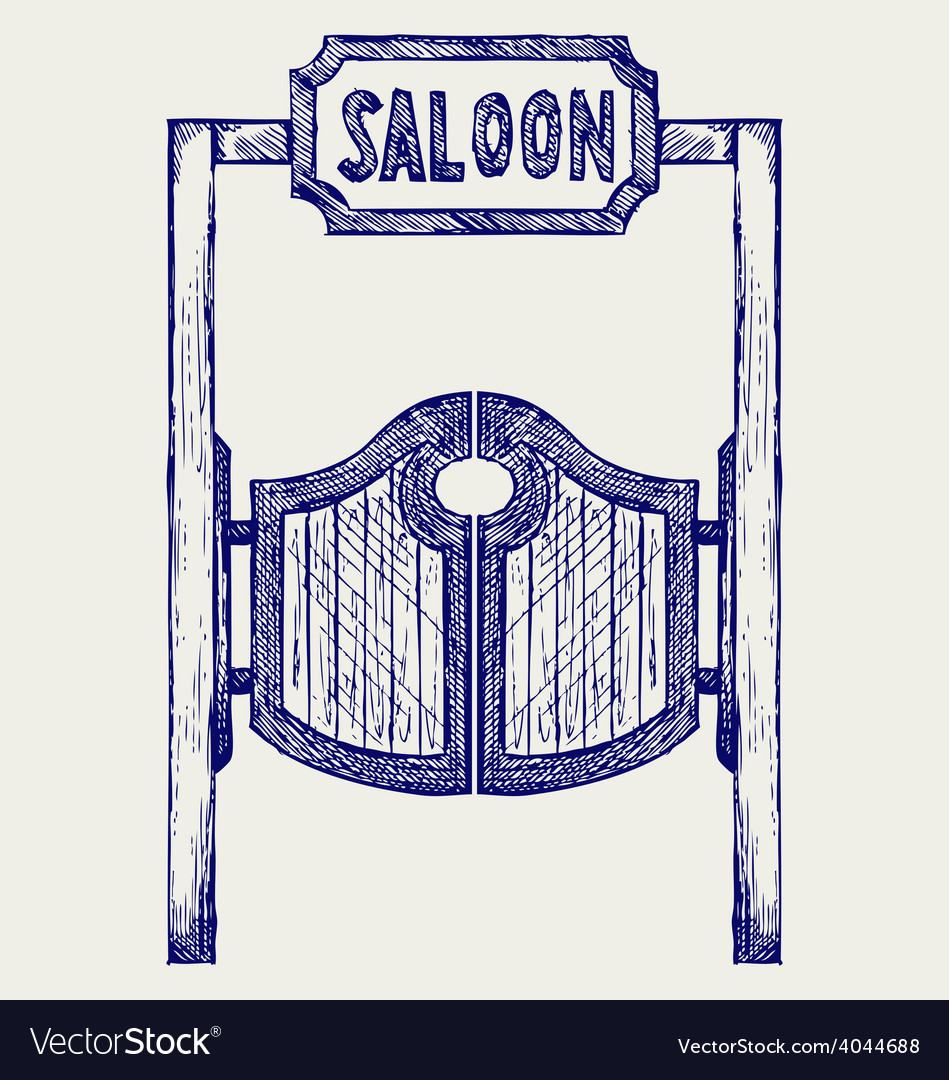 Old western swinging saloon doors vector | Price: 1 Credit (USD $1)