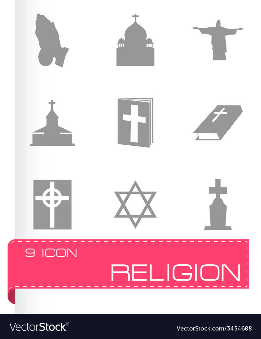 Religion icons set vector | Price: 1 Credit (USD $1)