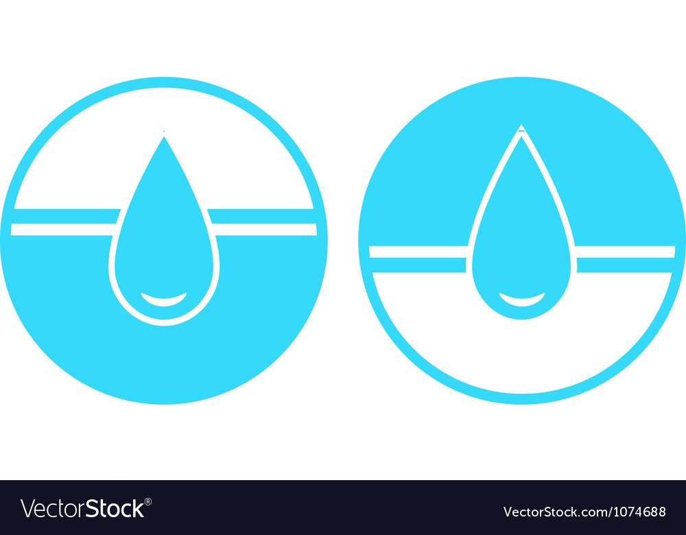 Set of water drop sign vector