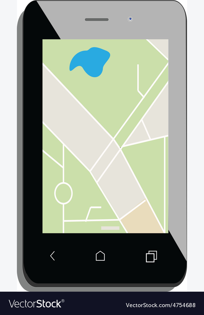 Smartphone with gps vector | Price: 1 Credit (USD $1)