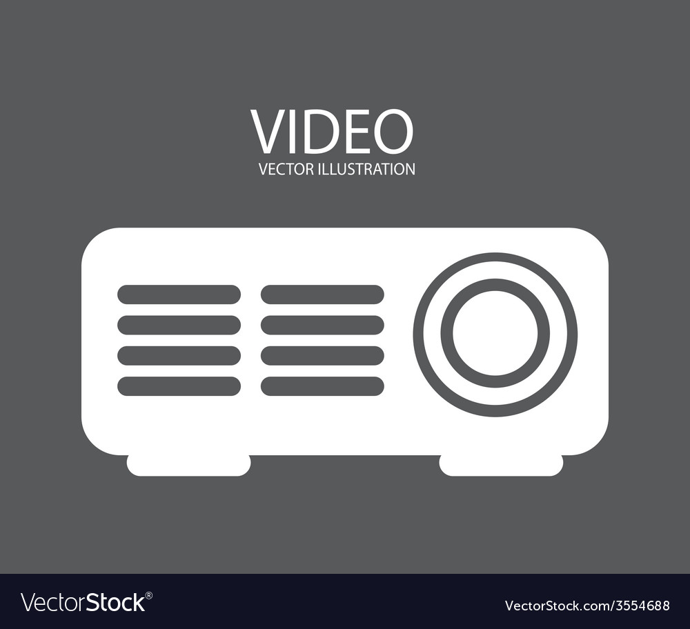 Video projector vector | Price: 1 Credit (USD $1)