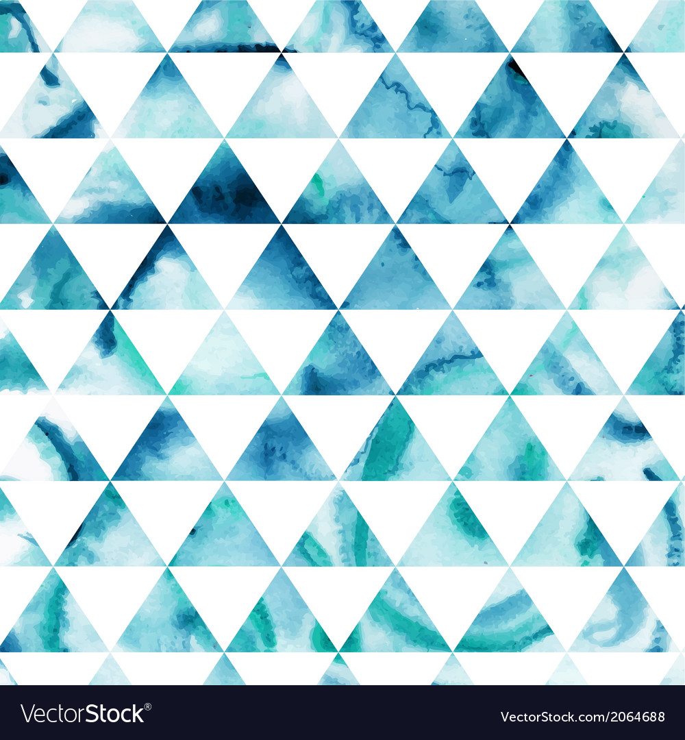 Watercolor triangles pattern modern hipster vector | Price: 1 Credit (USD $1)