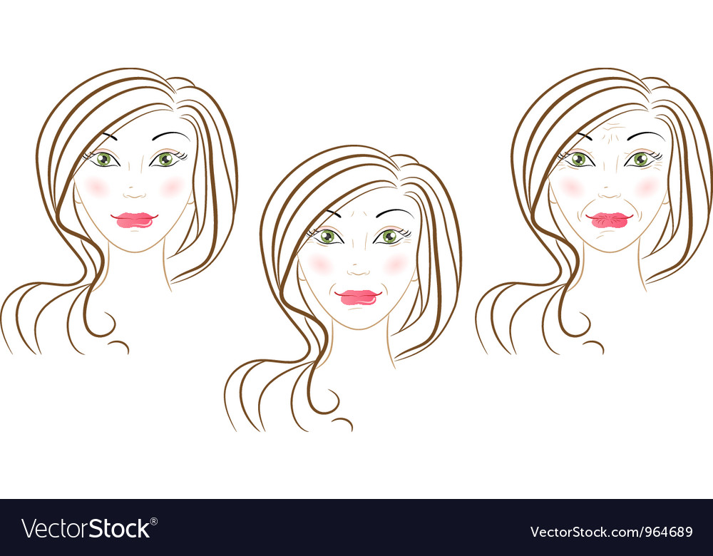 Aging process vector | Price: 1 Credit (USD $1)