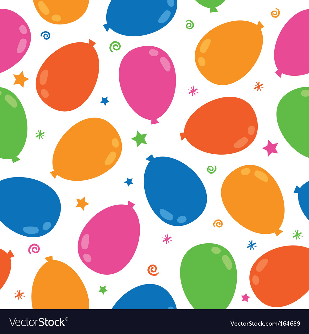 Balloon pattern vector | Price: 1 Credit (USD $1)