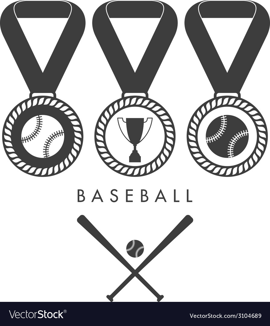 Baseball set vector | Price: 1 Credit (USD $1)