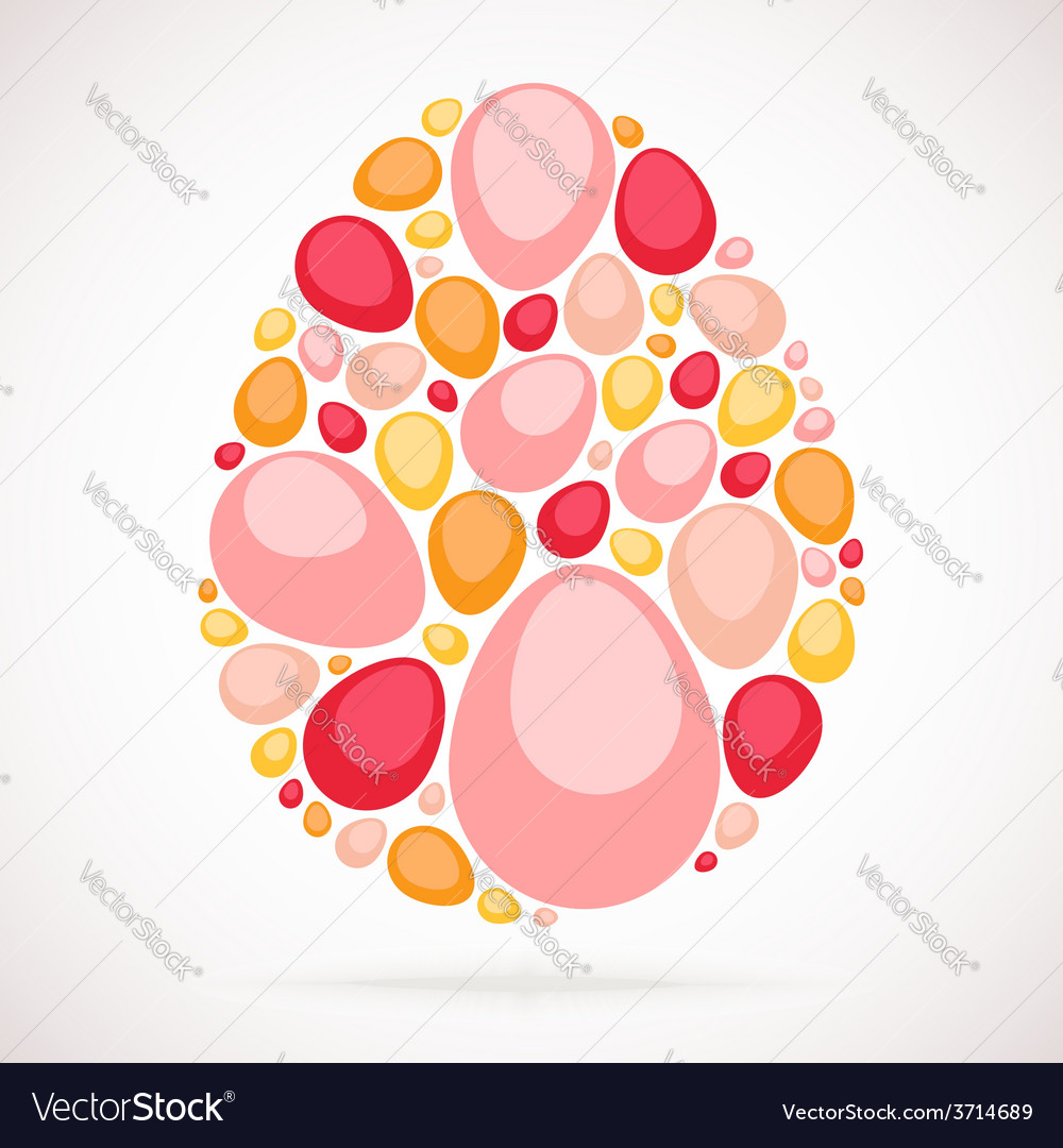 Colorful mosaic egg vector | Price: 1 Credit (USD $1)