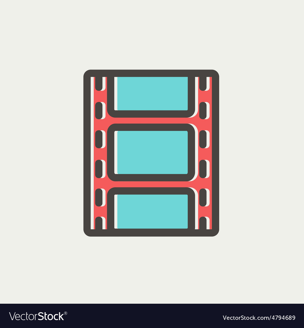 Filmstrip with image thin line icon vector | Price: 1 Credit (USD $1)