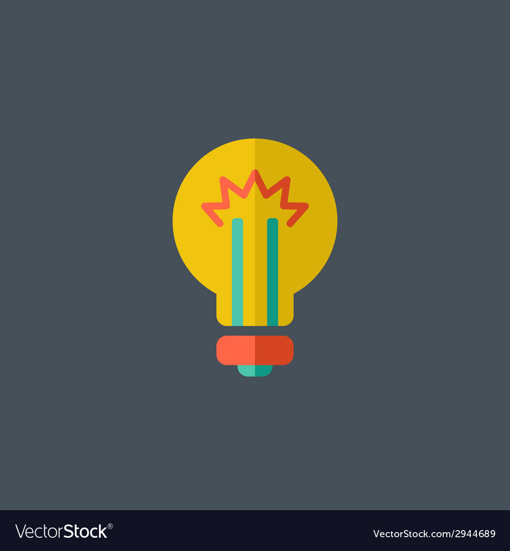 Idea flat icon vector | Price: 1 Credit (USD $1)