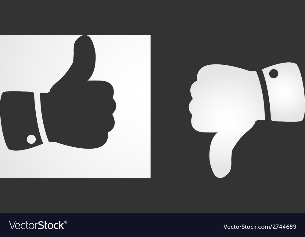 Like and dislike icon flat design vector | Price: 1 Credit (USD $1)