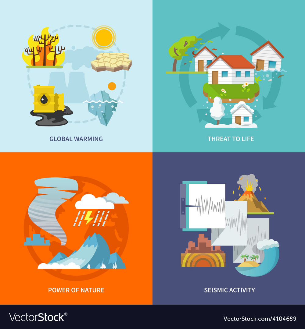 Natural disaster flat vector | Price: 1 Credit (USD $1)