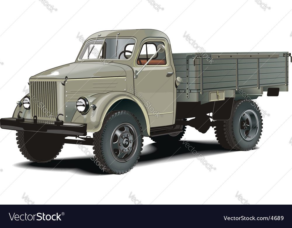 Retro lorry vector | Price: 5 Credit (USD $5)