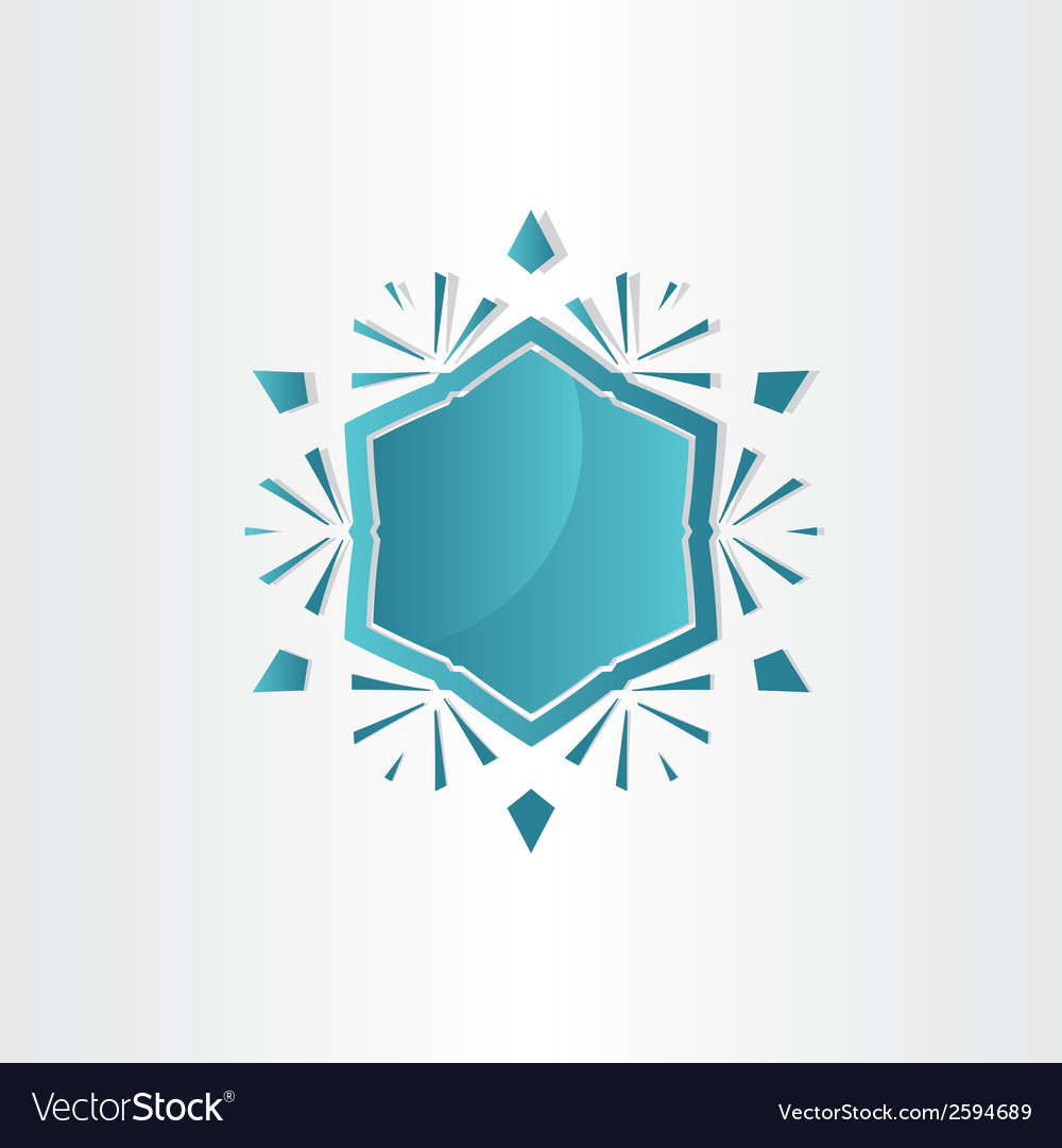 Snowflake window abstract design vector | Price: 1 Credit (USD $1)