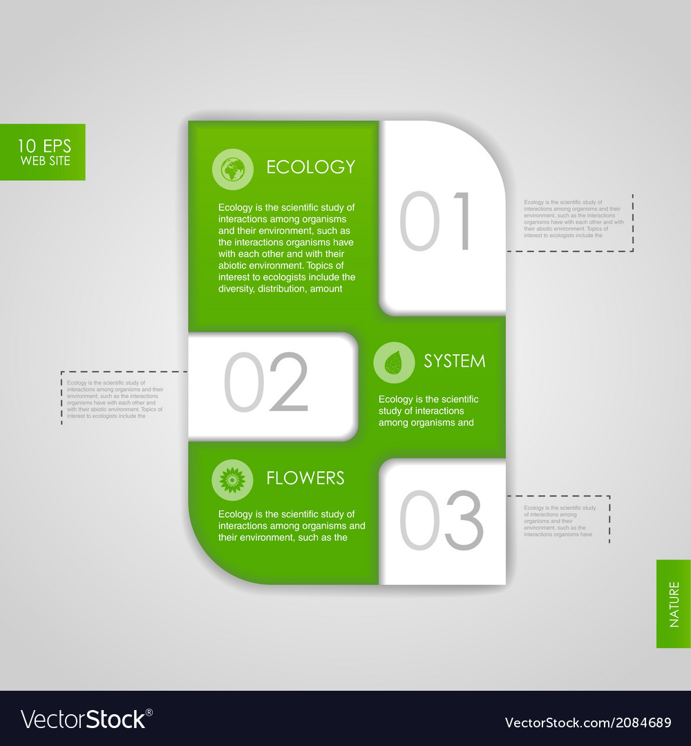 Web site design ecology background vector | Price: 1 Credit (USD $1)