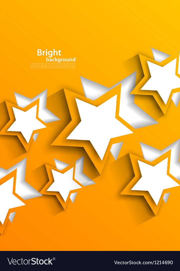 Background with orange stars vector | Price: 1 Credit (USD $1)