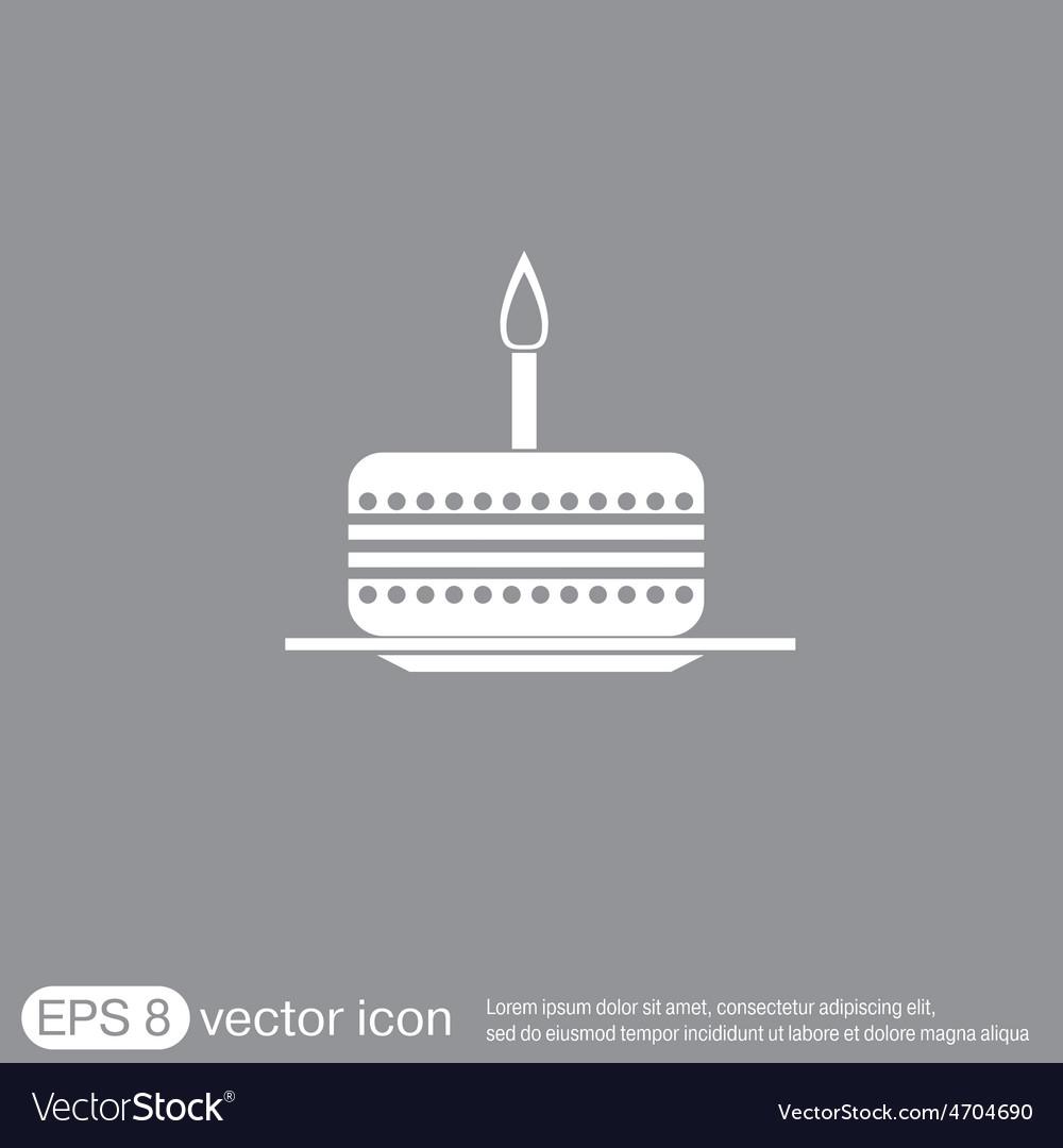 Birthday cake icon vector | Price: 1 Credit (USD $1)
