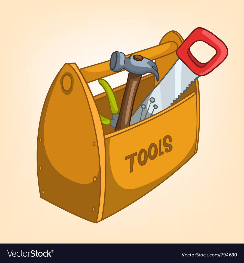Cartoon tool box vector | Price: 1 Credit (USD $1)