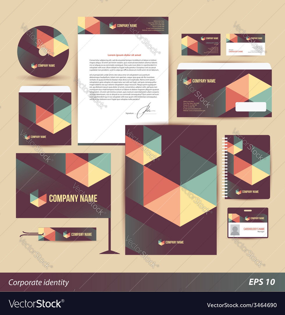 Corporate identity templates vector | Price: 1 Credit (USD $1)