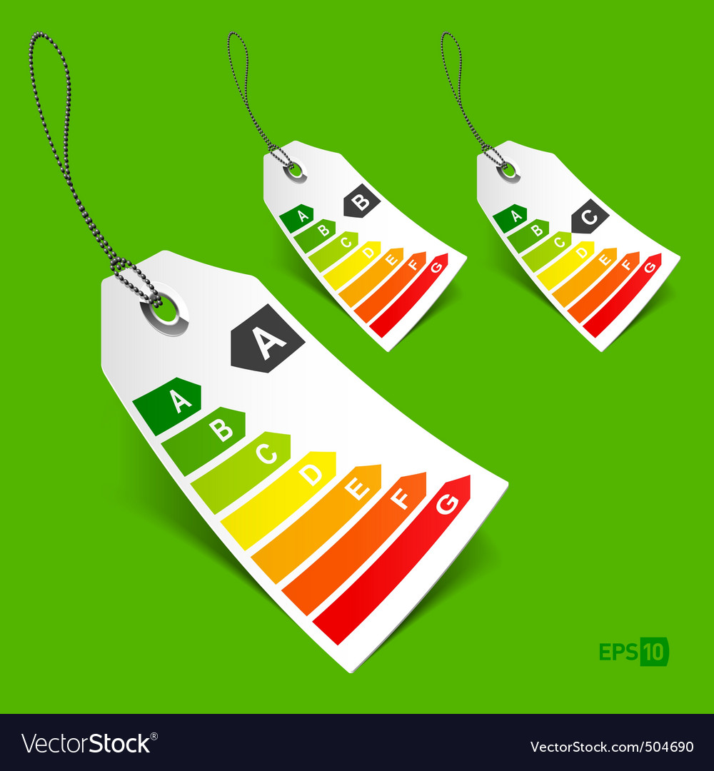 Energy tags vector | Price: 3 Credit (USD $3)
