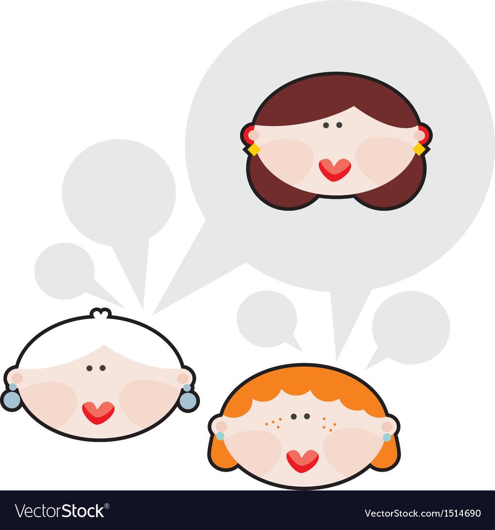 Female conversations vector   Price: 1 Credit (USD $1)