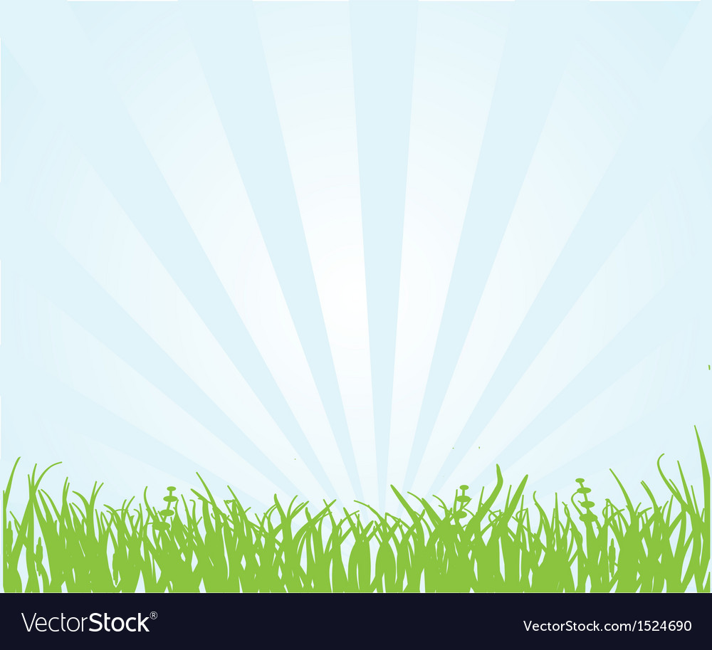 Green field and blue sky vector | Price: 1 Credit (USD $1)