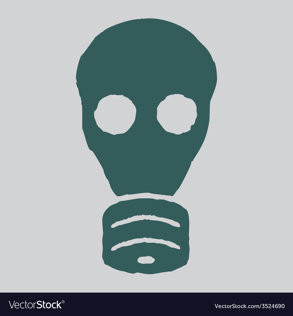 Isolated gas mask grunge vector | Price: 1 Credit (USD $1)