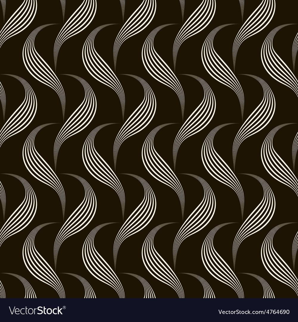 Seamless pattern monochrome ornament vector   Price: 1 Credit (USD $1)