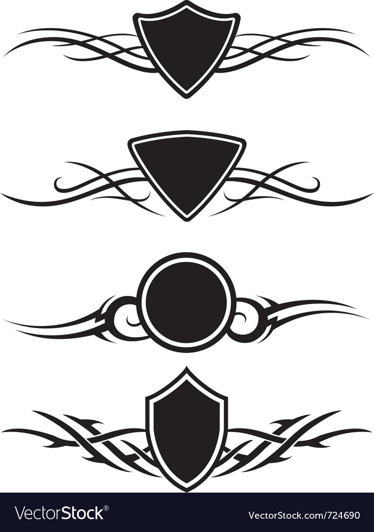 Tattoo graphic ornaments vector | Price: 1 Credit (USD $1)
