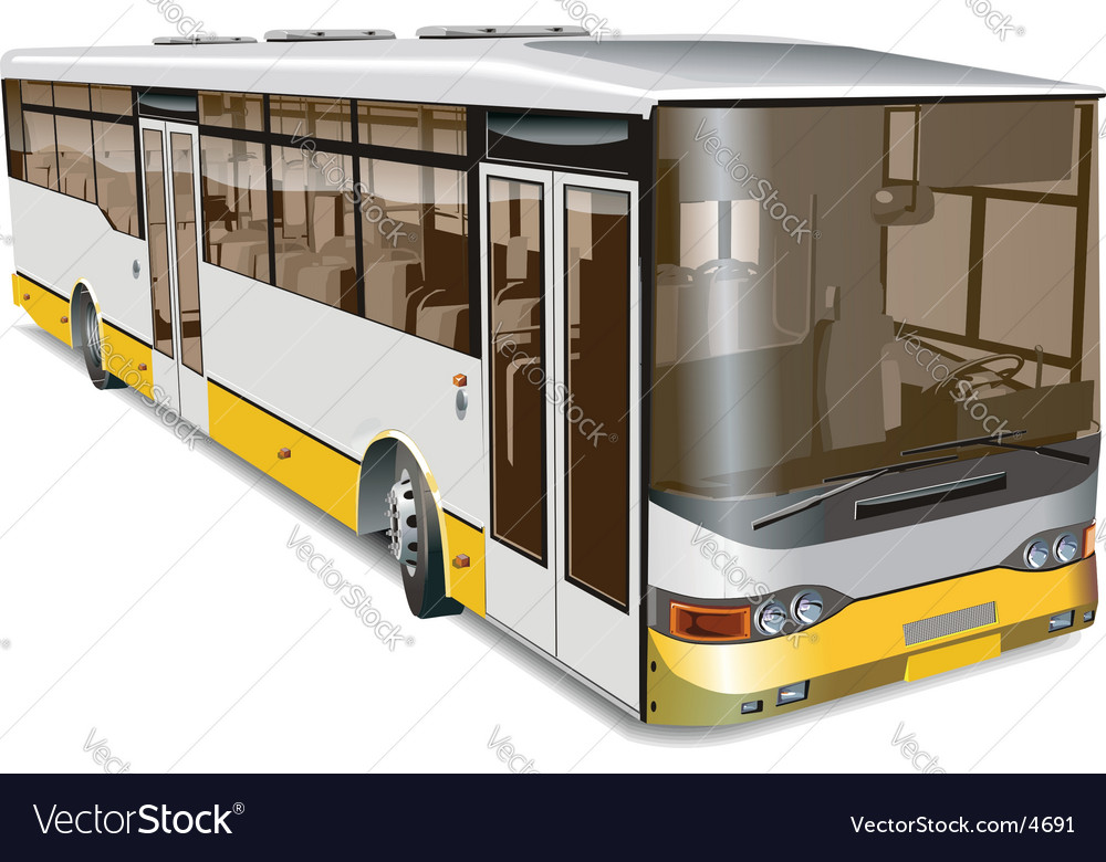City bus vector | Price: 5 Credit (USD $5)