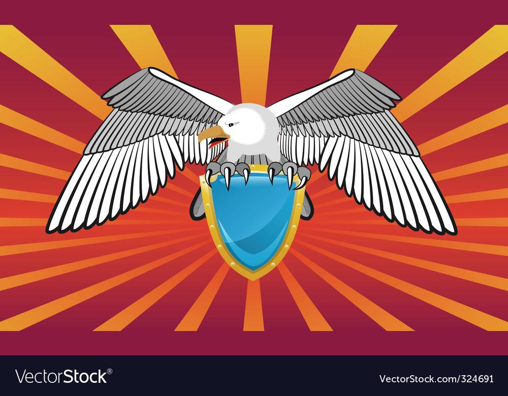 Eagle emblem vector | Price: 1 Credit (USD $1)