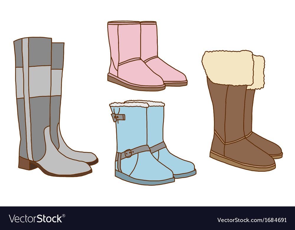 Fashion women boots vector | Price: 1 Credit (USD $1)