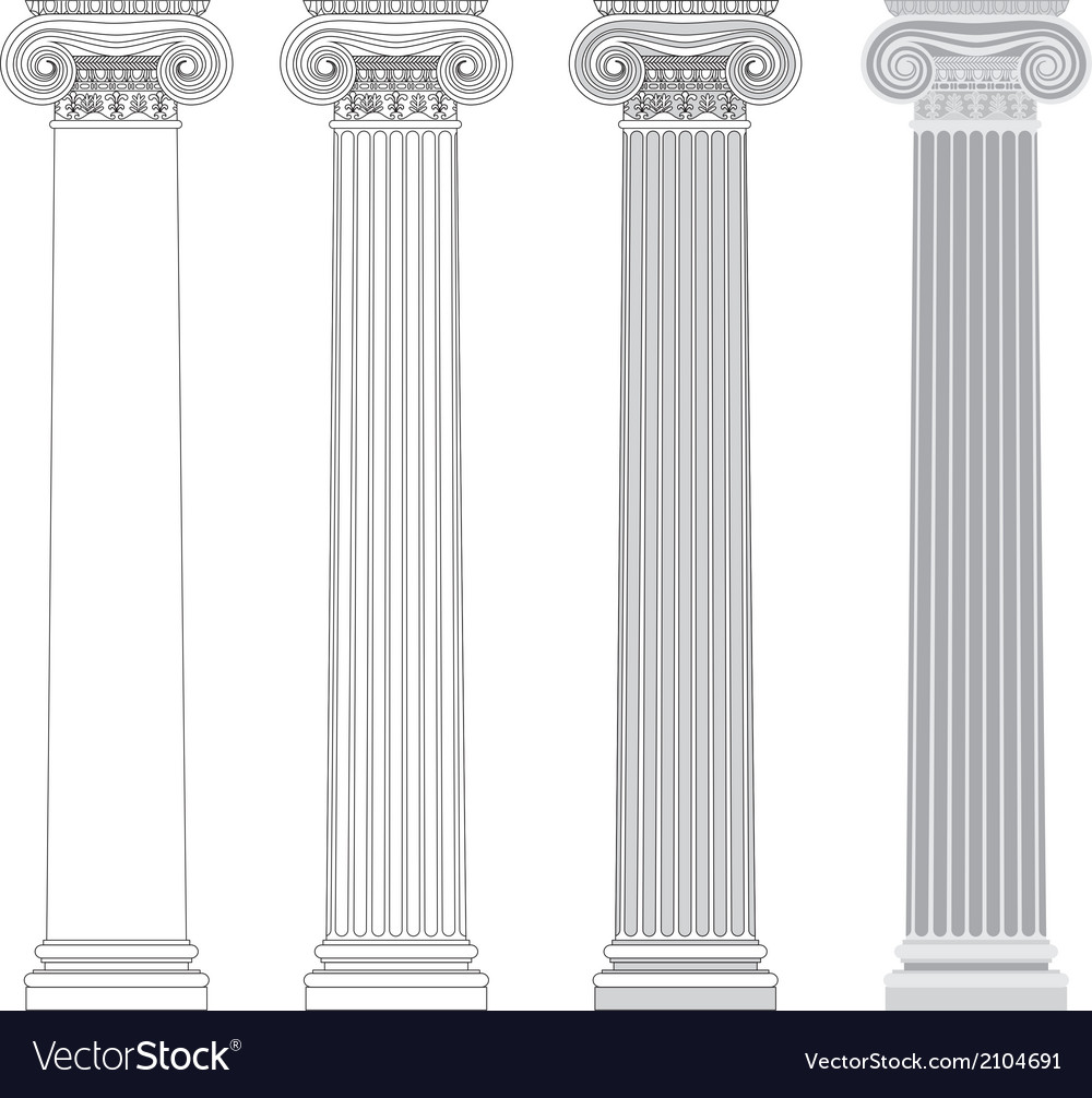 Ionic column vector | Price: 1 Credit (USD $1)