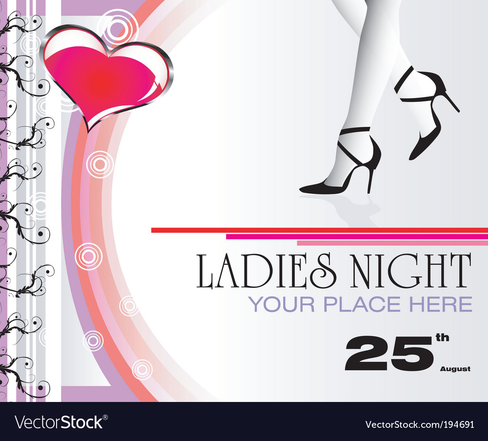 Ladies night flyer vector | Price: 3 Credit (USD $3)
