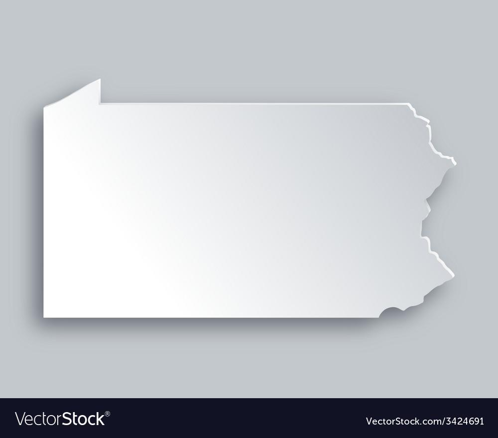 Map of pennsylvania vector | Price: 1 Credit (USD $1)