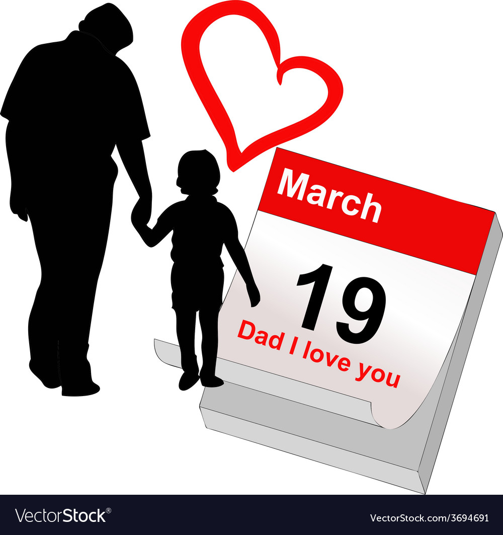 March 19 today is the feast of my dad vector | Price: 1 Credit (USD $1)