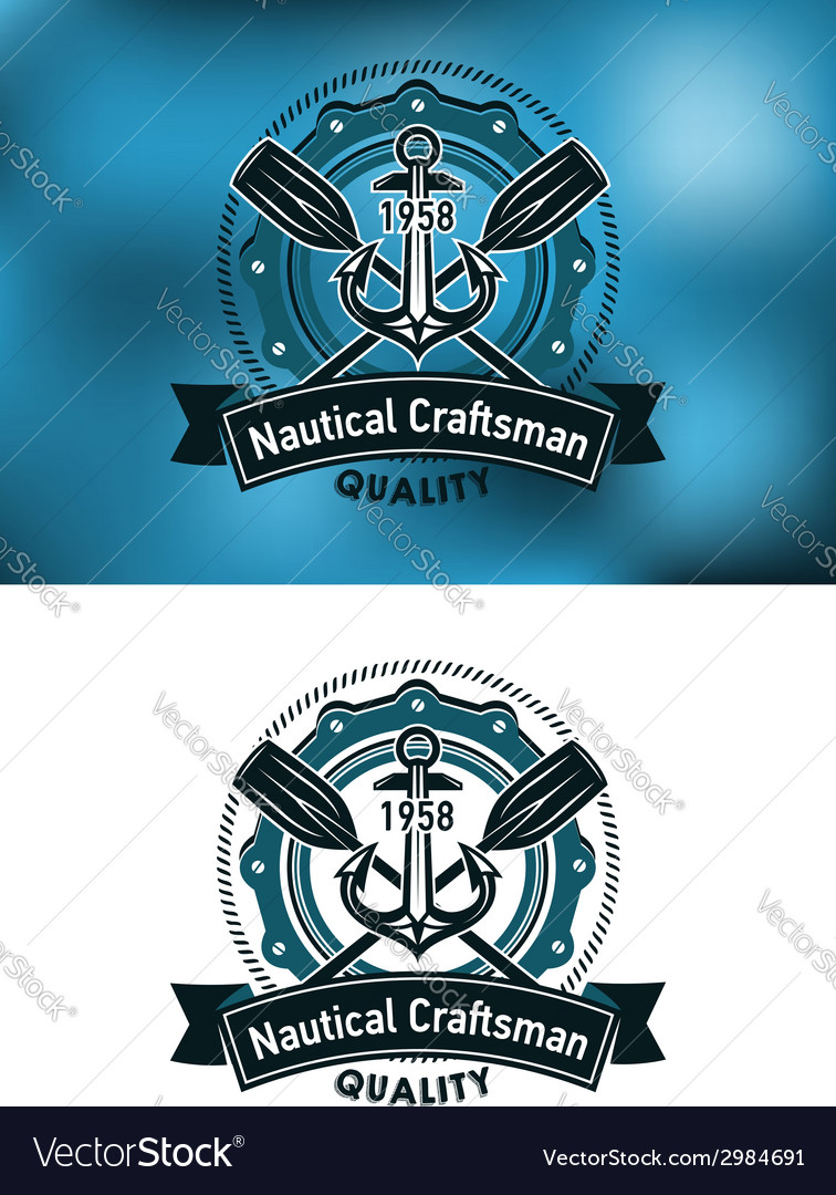 Nautical craftsman emblem vector | Price: 1 Credit (USD $1)