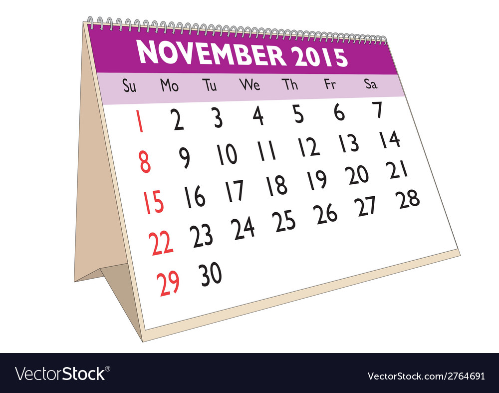 November 2015 vector | Price: 1 Credit (USD $1)