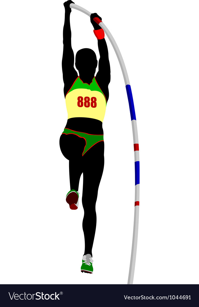 Pole vaulting vector | Price: 1 Credit (USD $1)