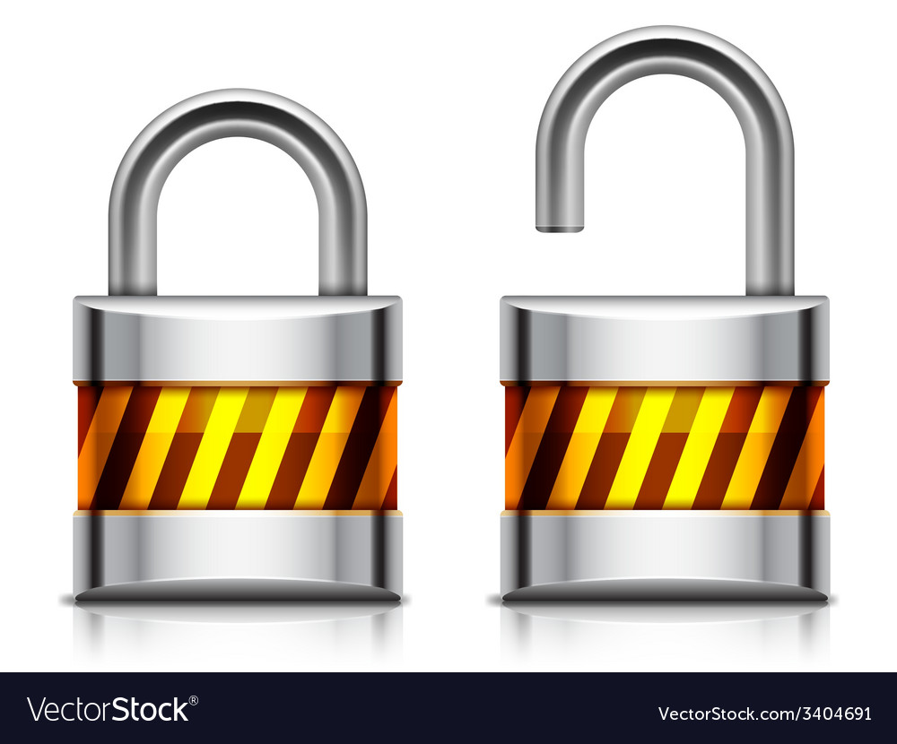 Security padlock vector | Price: 3 Credit (USD $3)