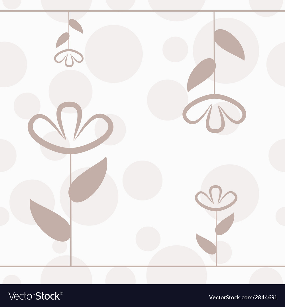Simple floral seamless pattern with lines flower vector | Price: 1 Credit (USD $1)