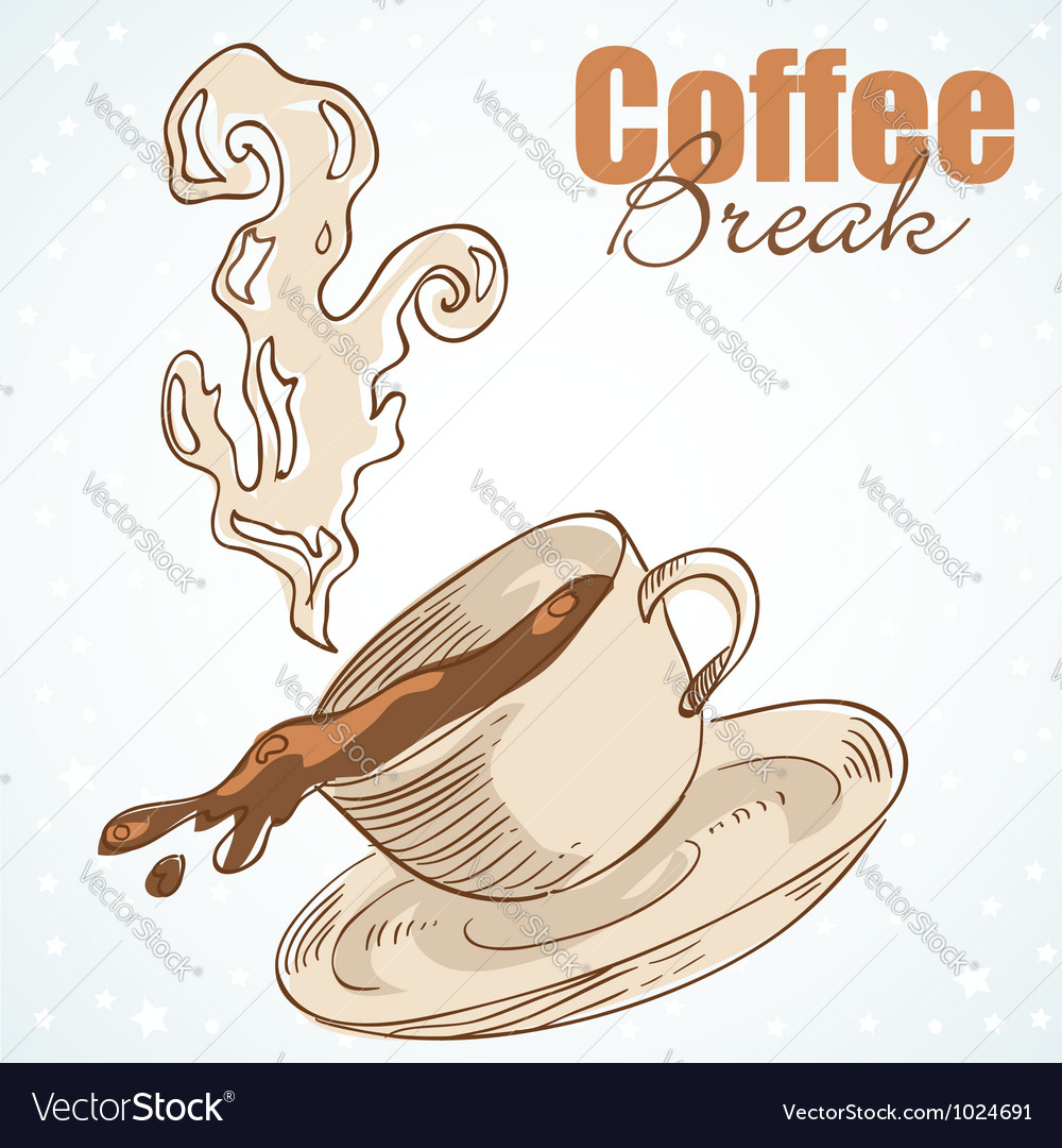 Tasty coffee cup greeting card vector | Price: 1 Credit (USD $1)