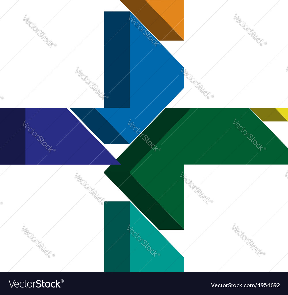 3d cross symbol vector