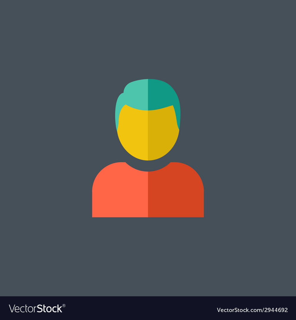 Avatar flat icon vector | Price: 1 Credit (USD $1)